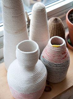 More beautiful cotton rope baskets! From Studio Tour: Doug Johnston #studiotour