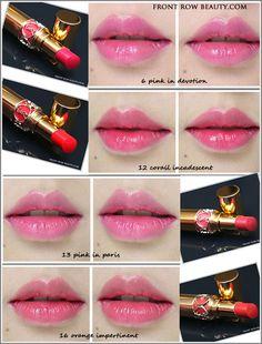 ysl-rouge-volupte-shine 6-12-13-16 swatches