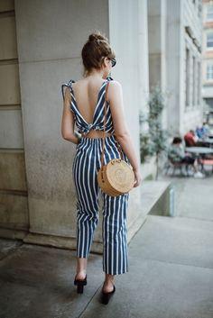 50294a402e 16 Best Striped jumpsuits images