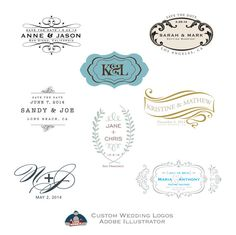 Wedding Logos - SAVE THE DATE