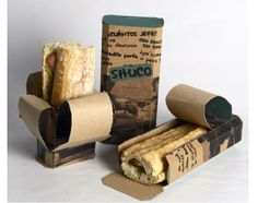 Great-looking, functional takeaway packaging for sandwiches.