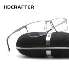 69b6a9a66 Hdcrafter* 2091 Armação de Óculos Masculino Alumínio. Simple Market