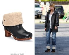 Dianna Agron arrives on the set of Glee, Los Angeles, October 27, 2010  Part clog, part UGG boot - all signature Dianna Agron quirk!  UGG Australia Lynnea Clog Boots - $199.95