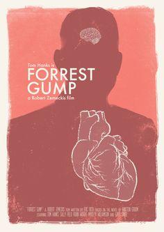 Minimalist Movie Poster: Forrest Gump