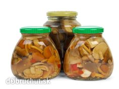 Glass jars with marinated mushrooms By digitalr¡¯s photos , Marinated Mushrooms, Stuffed Mushrooms, Stuffed Peppers, Glass Jars, Mason Jars, Red Tomato, Green Fruit, Pesto