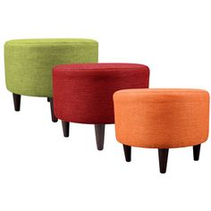 MJL Furniture Sophia Key Largo Round Upholstered Ottoman | Overstock.com Shopping - The Best Deals on Benches