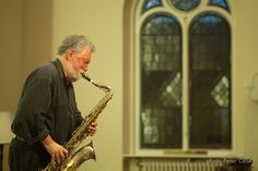 Saxophonist Evan Parker improvises at St Peter's Methodist Church on day three of Sounds New 2014. Image: Peter Cook.