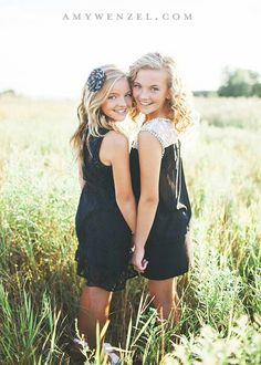 Sister pose- love this! Also great for Best Friends and Bride & Maid-of Honor