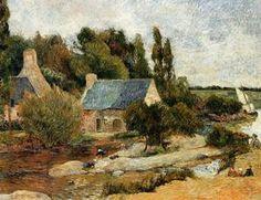 Lavandières à Pont-Aven - (Paul Gauguin)
