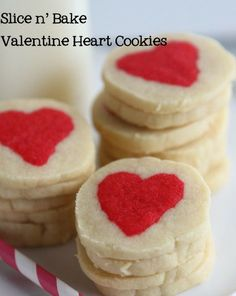 Slice and Bake Valentine Heart Cookies