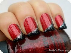 Red and Black with Silver Glitter by Miss-attractive