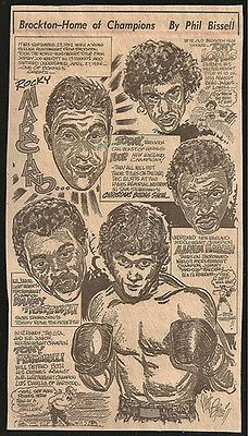 Rocky Marciano Boxing Brockton Champs Sports Newspaper Clipping