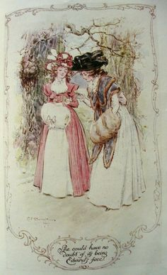 She could have no doubt of its being Edward's face - Sense and Sensibility, 1908