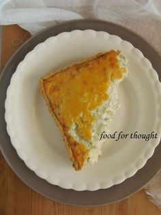 Food for thought: Τάρτες Food For Thought, Cornbread, French Toast, Recipies, Breakfast, Ethnic Recipes, Plates, Pie, Millet Bread