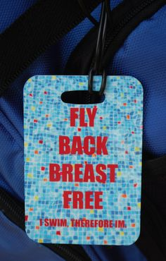 Fly Back Breast Free Swim Bag Tag Sport Bag Tag by FlipTurnTags, $5.95