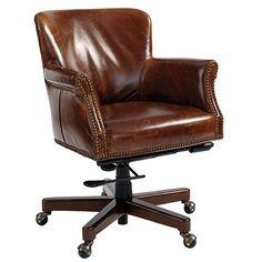 Pennington Leather Desk Chair $999 | Ballard Designs