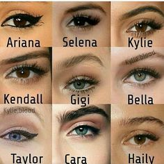 Eye Shape Chart, Eye Color Chart, Body Makeup, Eye Makeup Tips, Beauty Makeup, Makeup Eyes, Mac Eyeshadow, Eyeliner, Eyebrows
