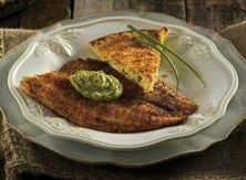Publix Aprons Simple Meals Spicy Fish With Avocado-Chipotle Sauce and Skillet Potato Cake . I tasted this today and the fish was delicious Seafood Salad, Fish And Seafood, Enchiladas, Pesto, Guacamole, Hummus, Quinoa, Seafood Seasoning, Sazon Seasoning