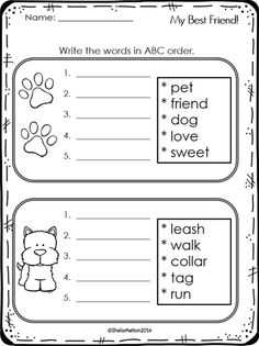 ABC Order FREEBIE! Directions: students will look at the words on the cards and write them in ABC order on the recording sheet. #sheilamelton