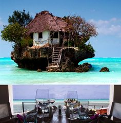 The Rock restaurant in Zanzibar, Tanzania. Wow on my Bucket List!!