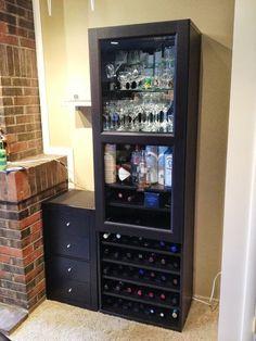 Besta Wine Rack and Liquor Cabinet - IKEA Hackers