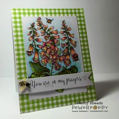 Rowhouse Greetings   Sympathy  Bees in Foxglove by Power Poppy