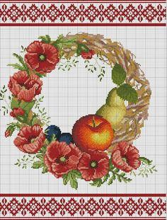 Спас Cross Stitching, Cross Stitch Embroidery, Embroidery Patterns, Cross Stitch Charts, Cross Stitch Patterns, Cross Stitch Kitchen, Cross Stitch Pictures, Cross Stitch Flowers, Needlepoint