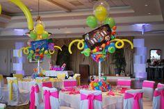 Candy Themed Bat Mitzvah Event Decor   Adult Centerpieces Party Perfect Boca Raton, FL 1(561)994-8833