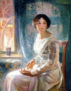 Portrait Of Mrs. K by Joseph Kleitsch (USA)