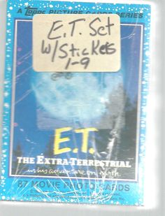 E T Extra Terrestrial Trading Card Set Stickers Topps 1982