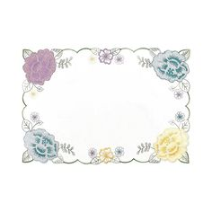 Enhance your tablescape with the Josephine Cutwork Placemat. This table linen is elegantly embroidered with brightly colored flowers, perfect for the spring. Coordinate with all Josephine Cutwork table linens for a complete look. Linen Placemats, Cutwork Embroidery, Table Linens, New Product, Bright Colors, Tablescapes, Floral Design, Tapestry, Flowers