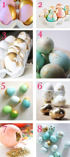 metallic easter eggs