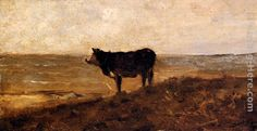 Charles-Francois Daubigny The Lone Cow Painting anysize 50% off