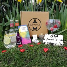 The Gin Lovers Gift Set - I Love Gin Gin Lovers, Lovers Gift, Gift For Lover, Heart Shaped Chocolate, Gin And Tonic, Truffles, Lip Balm, Cocoa, Alcoholic Drinks