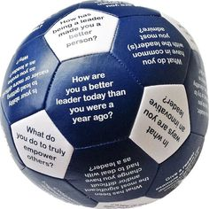 Designed to Help Individuals and Groups Reflect and Share Thoughts About Leadership. The Leadership Thumball was designed to help facilitators ask participants thoughtful questions about Leadership. T