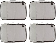 AmazonBasics Mittelgroße Kleidertaschen, 4 Stück, Grau: Amazon.de: Koffer, Rucksäcke & Taschen Packing Cubes, Travel Packing, Osprey Farpoint, Travel Organization, Color Names, Storage Boxes, Suitcase, Zip Around Wallet, Medium