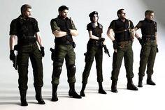 Primeira Equipe de #ResidentEvil. #Wesker #ChrisRedfield #JillValentine