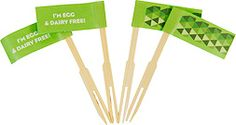 I'm egg & dairy free  pack of 25 food flags  $5.95 Colour coded for kids with food allergies