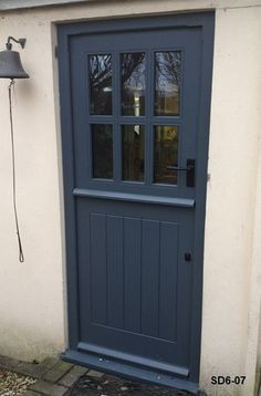 Bespoke Doors Stable Door with 6 Panes made from Oak and Painted Idigbo