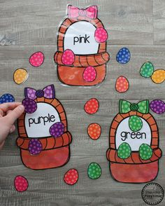 Easter Color Sorting Game for Preschool #colors