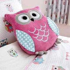 Kids Pretty Owls 3D Cushion | Dunelm