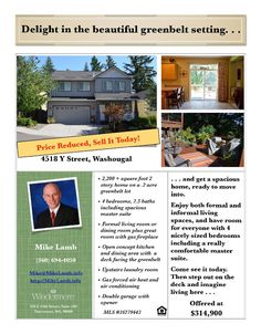 Real Estate NOW for sale at $314,900! Come and view this four bedroom, two full and one half bath, 2222 square foot spacious two story Columbia View home on a large .2 acre greenbelt lot setting at 4518 Y Street, Washougal, Washington 98671 in Clark County area 33 which is the Washougal area. The RMLS number is 16279443. It has one gas burning fireplace and a view of trees and a valley. It was built in 2006 and has a two car attached garage. The local high school is Washougal High and the…