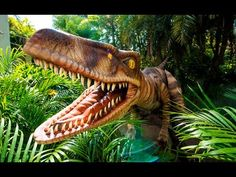 A Velociraptor invades Jurassic Park at Universal Orlando's Island of Adventure