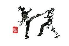 Encres : Capoeira – 603 [ #capoeira #watercolor #illustration]