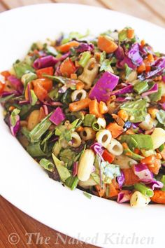 Loaded Veggie Salad with Sweet Italian Dressing - sub in quinoa as suggested, and maple or brown rice syrup in dressing