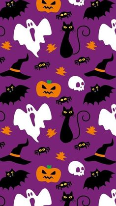 Image in Halloween backgrounds 🎃 collection by fondos brujas Image in Halloween backgrounds 🎃 collection by Kawaii Halloween, Moldes Halloween, Fröhliches Halloween, Halloween Prints, Halloween Patterns, Halloween Pictures, Holidays Halloween, October Wallpaper, Cute Fall Wallpaper