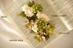Beautiful DIY Succulent Book Planters