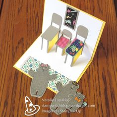 Interactive popup card with Bear Hugs, card design by Natalie Lapakko.