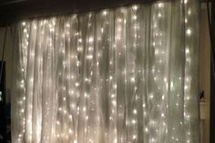 DIY photo backdrop with lights