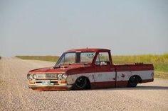 bodydropped Datsun built by Mindliss Metal Fab Bagged Trucks, Lowered Trucks, Mini Trucks, Cool Trucks, Cool Cars, Nissan Trucks, Chevy Trucks, Pickup Trucks, Drift Truck
